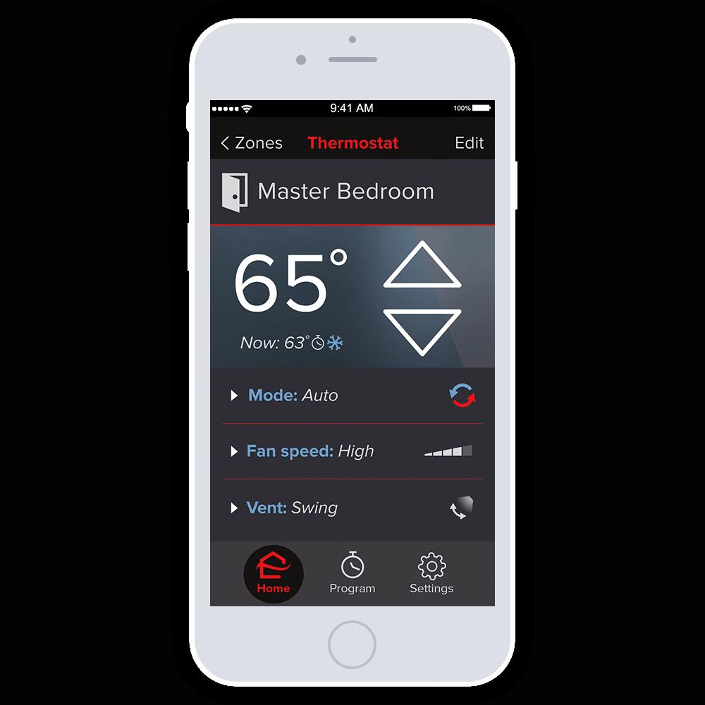 Mitsubishi Smartphone App kumo cloud control.