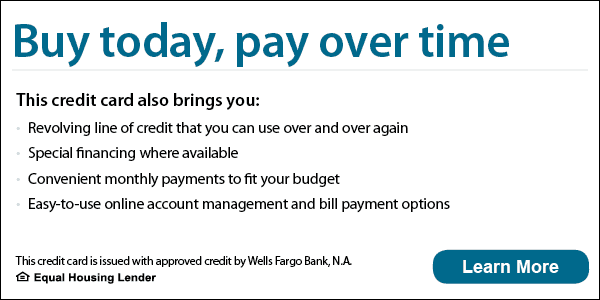 wells fargo buy today, pay over time banner image