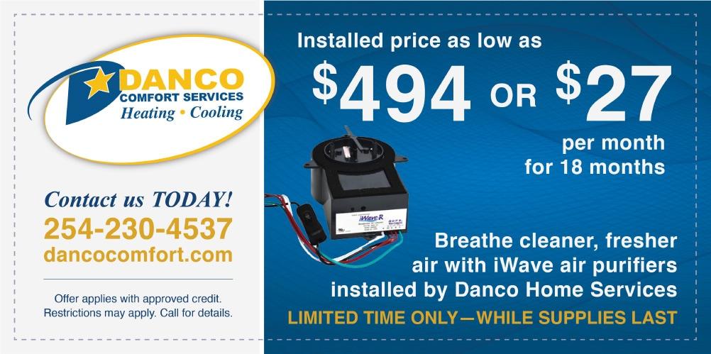 danco comfort services iWave coupon