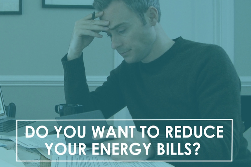 man looking over HVAC bill, Video - Do You Want to Reduce Your Energy Bills?